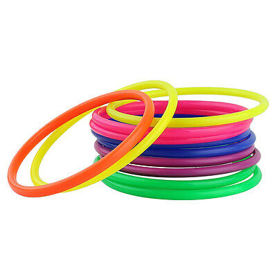 10× Plastic Toss Rings Circle Hoopla-Game Fun Throw to Hook Kids Child Toy 13CM/