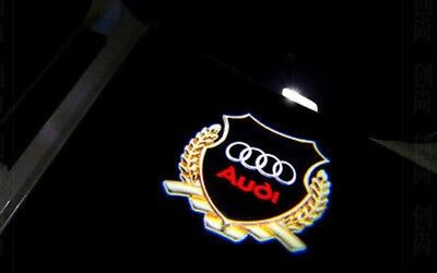 2x LED Laser Projector Logo For AUDI Door Courtesy Puddle Light A4 A3 A6 Q7 E