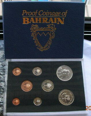 Bahrain 1965-1969 Mint Box Set of 8 Coins,With Silver Coin