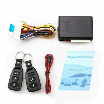 Universal Car Alarm Systems Auto Remote Central Kit Door Lock Keyless Entry P7W6