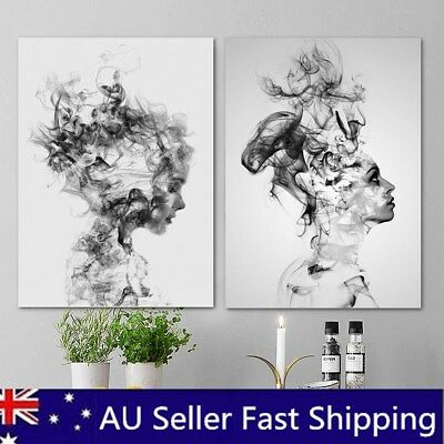 Modern Abstract Canvas Print Painting Framed Women Art Poster Prints Wall Decor