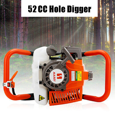 52cc 7500rmp Gas Powered Post Hole Digger Post Hole Auger Digger Machine 2000W