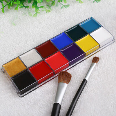 Professional 12 Colors Face Body Paint Oil Painting Art Christmas Party Set