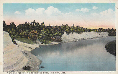 MERIDIAN , Mississippi 1910-30s ; Spanish Fort on Tombigbee River