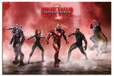 Affiche - Captain America Guerre Civile Equipe Iron Man Neuf - Maxi Taille