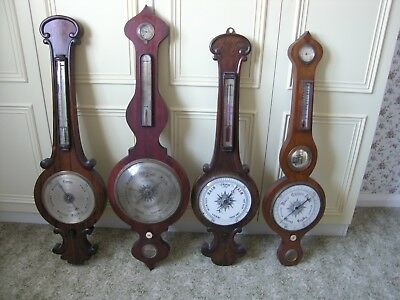 """Vintage Antique """"banjo Barometers"""" X 8 My Collection All Need Some Restoration"""