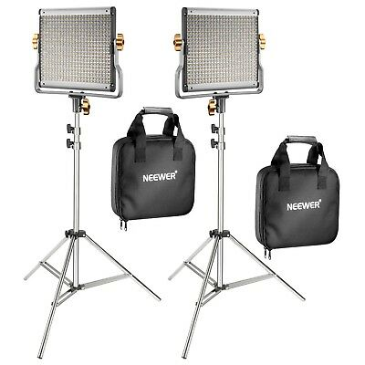 LED Video Youtube Lighting Light Stand Kit Neewer 2-Pack Dimmable Bi-color 480