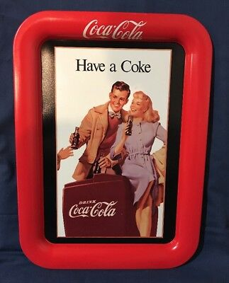 """Vintage Metal Tray Coca-Cola """"Have a Coke"""" From 1948 Ad Tray Issued 1991 Pop"""