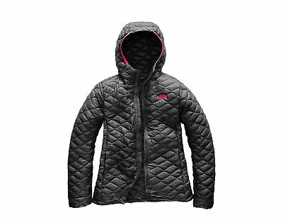 The North Face ThermoBall Hoodie Asphalt Grey/Pink Women's Jacket A3KU2-0C5