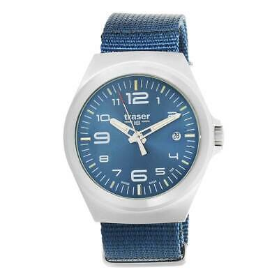 Tritium S Essential W Leather Blue Strap Traser P59 Watch 9EIWD2H