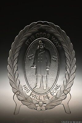 c 1901 McKINLEY COMMEMORATIVE by Unknown CLEAR Platter