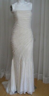 NOS Ann Taylor off-white lace wedding dress, mermaid sheath, NWT