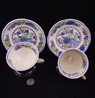 2 Masons Regency   Tea Cups And Saucers  With 2 Cup Variations