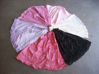 Vintage Cutter Seconds Lot 6 Colorful Half Slips Nylon Cotton Lingerie #4