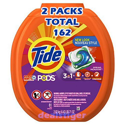 Tide Pods Laundry Detergent Spring Meadow 3 in 1 - 152 Count + 10 FREE 162 TOTAL