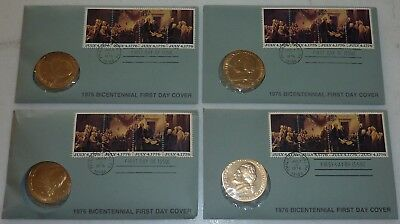 1976 Bicentennial First Day Cover Jefferson Commemorative Coin - FREE Shipping