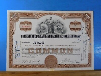 Stock certificate Chicago Rock Island and Pacific Railroad Company #NC050324 25