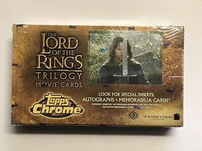 TOPPS LORD OF THE RINGS CHROME TRILOGY Movie Card HOBBY Box SEALED 36 Packs