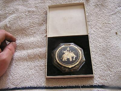 Antique Compact Sterling Silver with Elephant