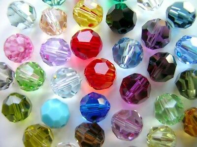 33fe9994b 50 Pieces Genuine Swarovski 6Mm Style 5000 Round Crystal Beads -You Pick  Colors!