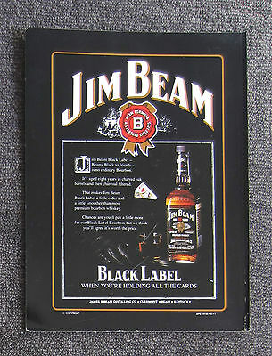 JIM BEAM BLACK LABEL BOURBON Magazine Page Ad Alcohol Sales Whisky Advertisement