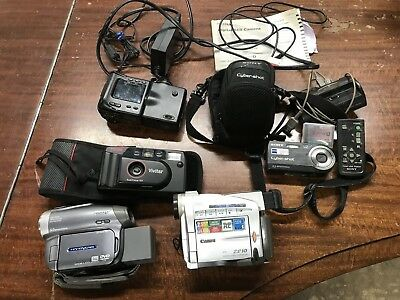 Lot Of 4 Cameras And Digital Camcorders,