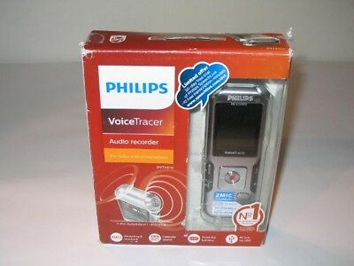NEW Philips VoiceTracer DVT4010 Digital Audio Voice Recorder 8GB