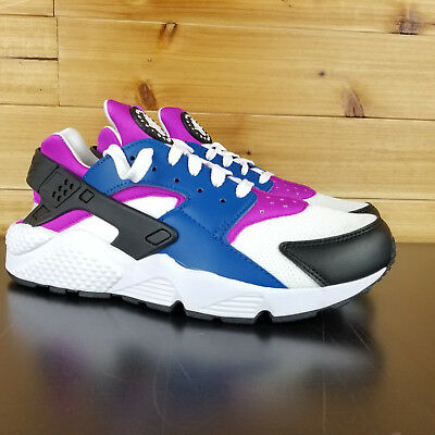 7d72a66bd5677 Nike Air Huarache Men s Running Shoes Blue White Violet 318429-415 Multiple  Size