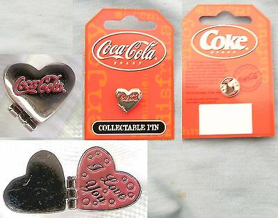 #t22.  Coca Cola Coke Collectable Pin - Opening Heart