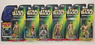 Star Wars The Power Of The Force Lot of 6 FREEZE FRAME Green Card Action Figures