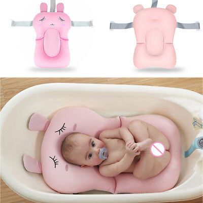Infant Baby Kids Bath tub Pad Breathable Safety Shower Antiskid Bed Soft Seat