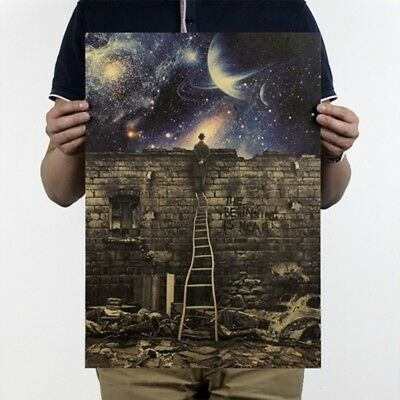 Milky Way Galaxy The Beginning Is Near Paper Poster Home Decor 36*51.5cm #HF8
