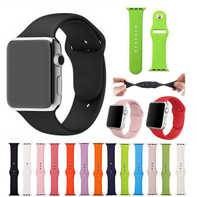For Apple Watch 4/3/2/1 iWatch 38mm 42mm Replacement Silicone Sport Band Strap