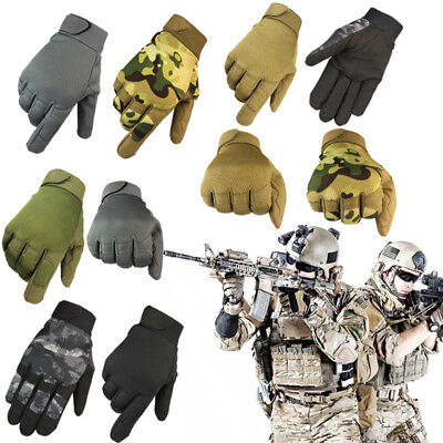 Tactical Outdoor Non-slip Airsoft Army Military Shooting Gear Full Finger Gloves