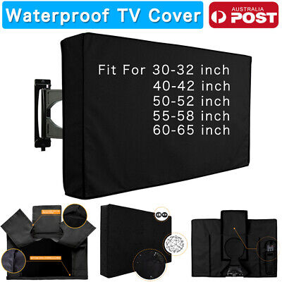 Outdoor Waterproof TV Cover Black Television Protector For 22'' to 65'' LCD LED