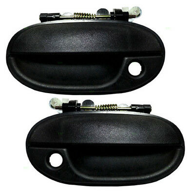 New Pair Set Front Outside Outer Door Handle Assembly for 95-97 Hyundai Accent
