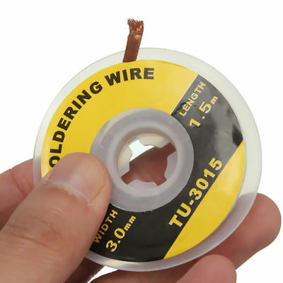 5 Feet /1.5M 1.5-3.0mm Desoldering Braid Solder Remover Wick Wire Repair Tool