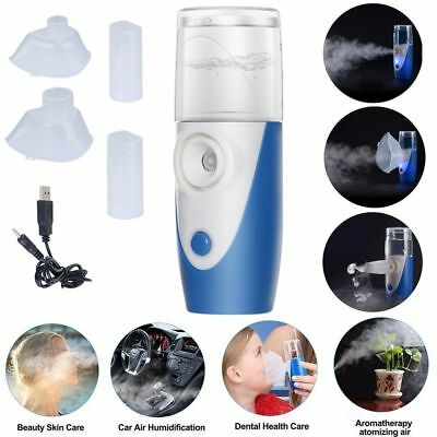 Mini Portable Travel Rechargeable Ultrasonic Nebulizer Inhaler Respirator Mesh