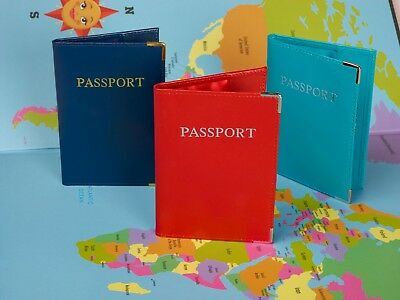 Personalised RFID Genuine Leather Passport Travel Wallet Holder/Cover + FREE TAG