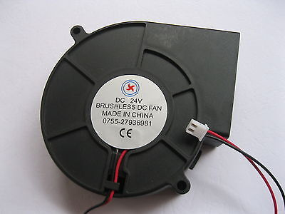 1 pcs Brushless DC Cooling Blower Fan 7525S 5V 3Wires 75x25mm Sleeve Bearing New
