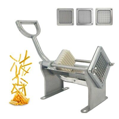 Stainless Steel Manual Potato Chipper 3 kind Blades Vegetable Cutter Chip
