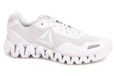 Reebok Mens Zig Pulse Platform Cushioned Footbed Mesh Running Shoes White  NIB 6a9bce7a4