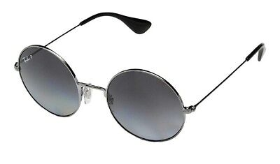 03d1b8cdfb9 Ray Ban JA-JO Polarized Grey Gradient Round Ladies Sunglasses RB3592 004 T3  55
