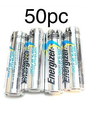 New Energizer 50 AA Advanced Lithium Long Lasting Leakproof Batteries exp 2030
