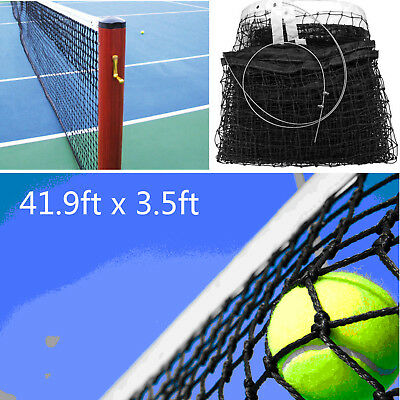 12.8x1.08M Full Size Tennis Court Net Standard Replacement Included Steel Cable