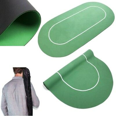 """Brybelly Sure Stick Rubber Portable Fold Out Poker Table Felt Top 70x35"""" GREEN"""