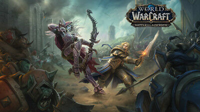 World of Warcraft Battle for Azeroth Silk poster wallpaper 24 X 13 inches