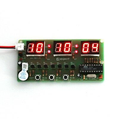 C51 6-Bit Electronic Clock Bell Suite Alarm Count Stopwatch Electronic DIY Kit