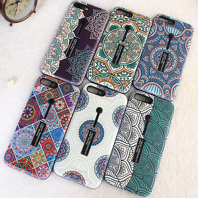Whirlwind Ring Holder Stand Hybrid Cover Phone Case for iphone 6 6s 7 8 Plus X