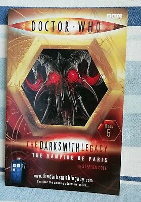 Doctor Who The Darksmith Legacy The Vampire Of Paris Stephen Cole 1/1 Uk Pb New